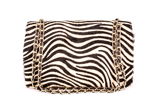 Adreano by Moretti Milano 14323 leather luxery zebra snake bag B