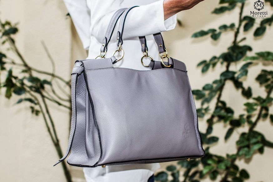Alife handbag handmade in luxury leather by Moretti Milano in Italy 14455