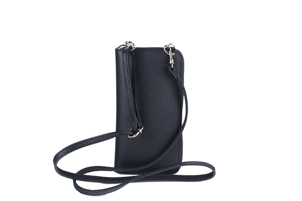 Atessa by Moretti Milano 10008 Phoneholder and wallet Blue color B
