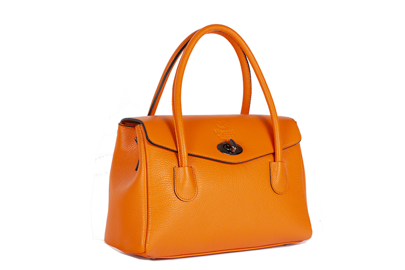 Fasano by Moretti Milano Made in Italy Genuine leather Orange
