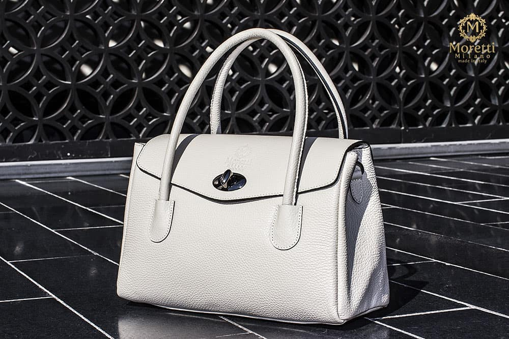 Fasano handbag in luxury leather by Moretti Milano Italy