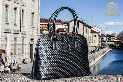 Fermo Handbag in great quality and design by Moretti Milano Italy