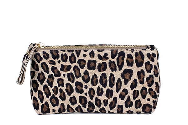 Make Up wallet Leopard genuine leather 10001 by Moretti Milano