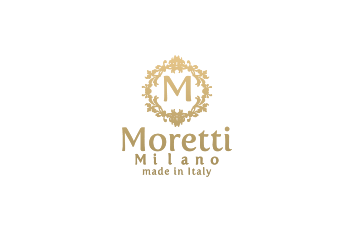 Moretti Milano Italy luxury leather handbags business bags travel bags logo gold white 350x233